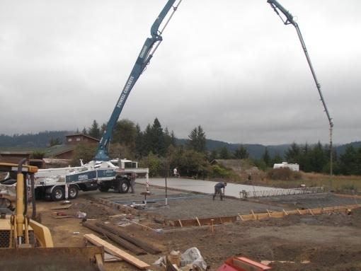Concrete Slab for new metal building